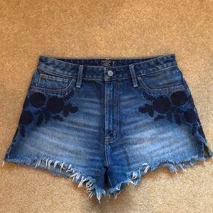 Abercrombie denim high waisted shorts
